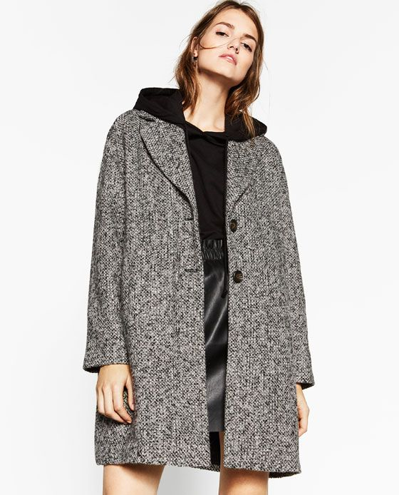 Image 2 Of Boucle Coat From Zara Abrigos Mujer Zara Abrigos Abrigos Mujer