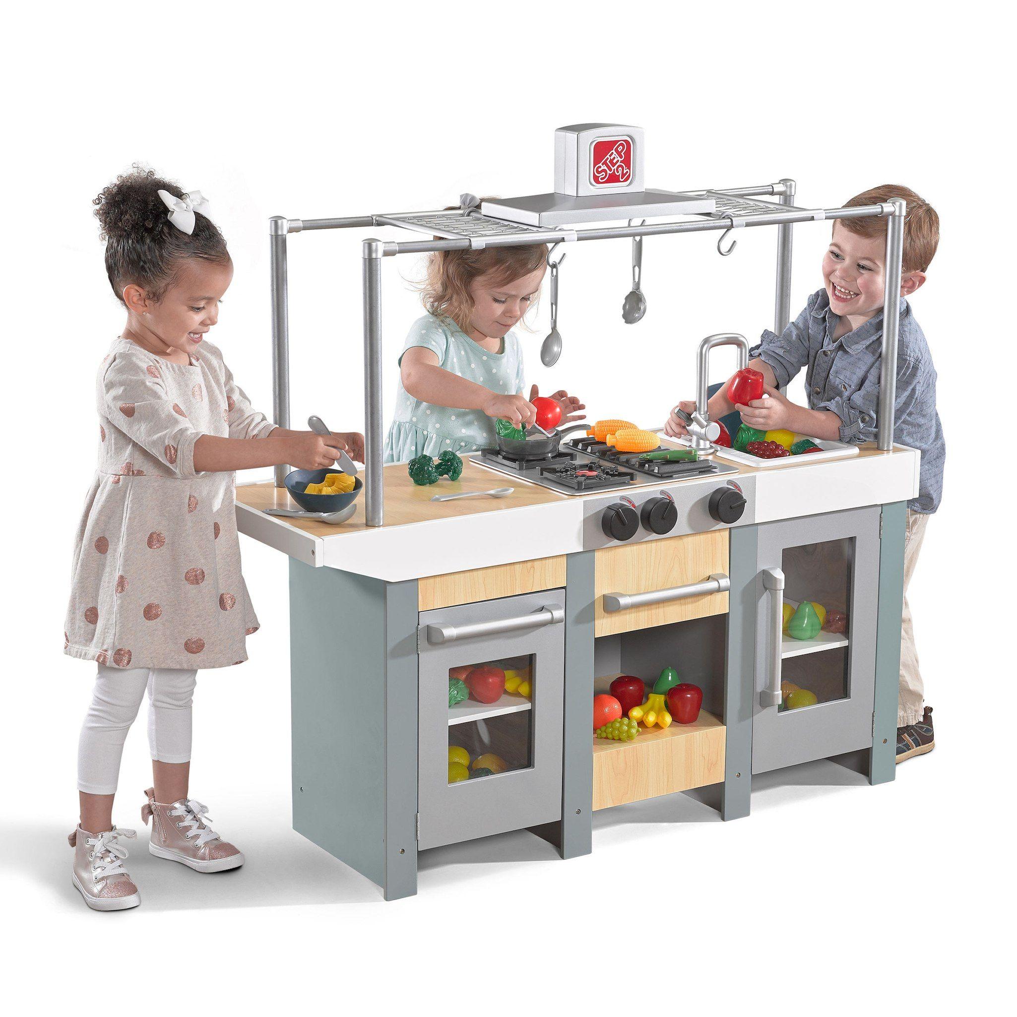 play kitchen island indoor garden step2 uptown urban wood and set wish list toys