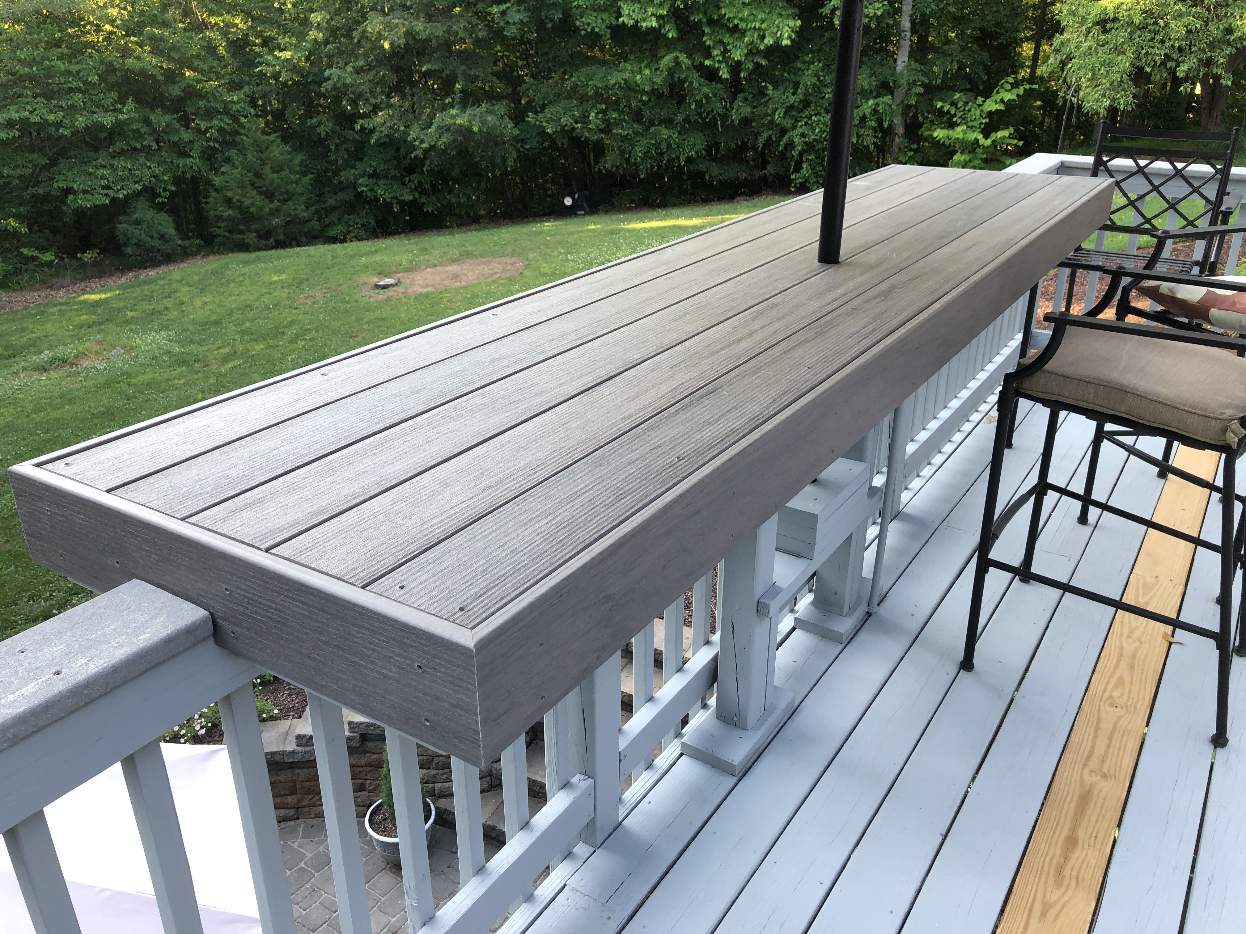 Composite Deck Rail Table Deck Railing Design Deck Designs Backyard Patio Deck Designs