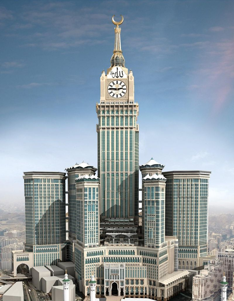 Top 10 Clock Tower Tallest In The World Mecca Hotel Supertall Architecture Building