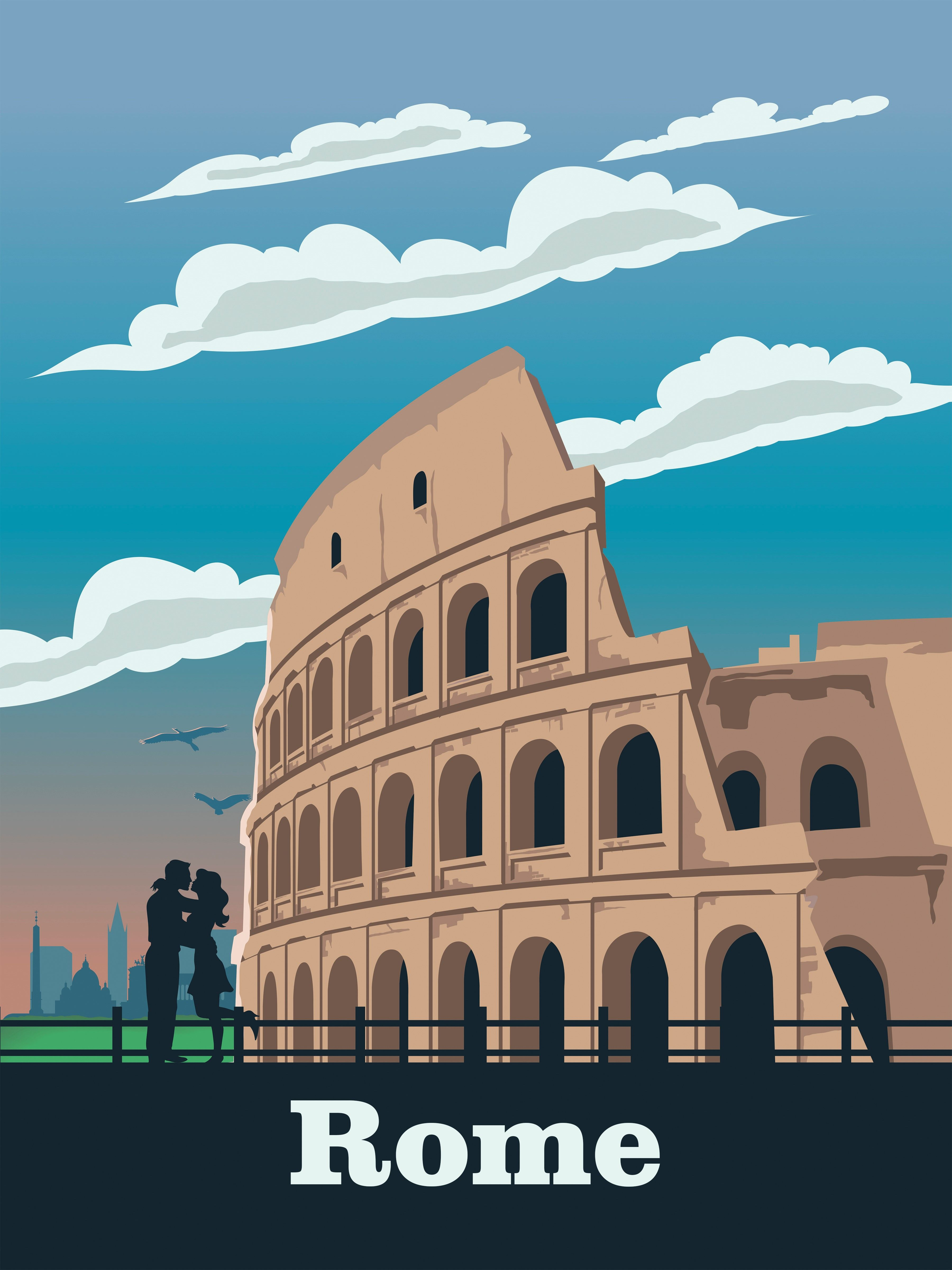 Rome Travel Poster Wall Art Vintage Retro Print Italy Map Painting Travel Posters Posters Australia Travel
