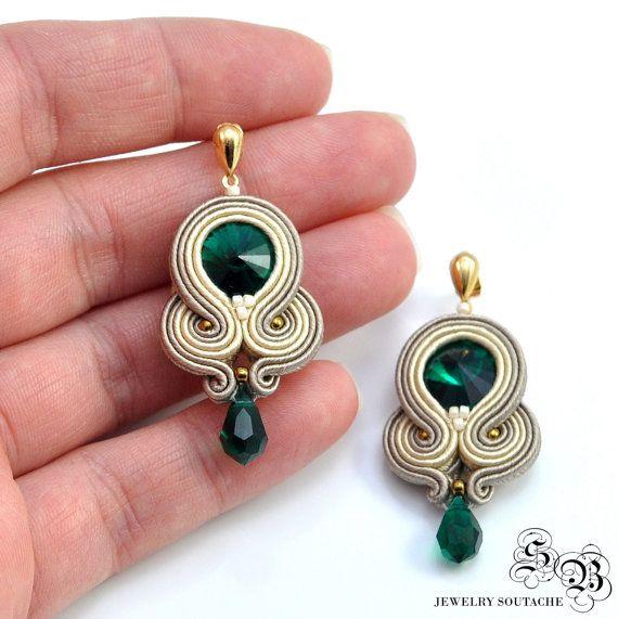 d33eb3e981c7 Conjunto de pulsera y pendientes Soutache elegante sistema | Jewelry ...