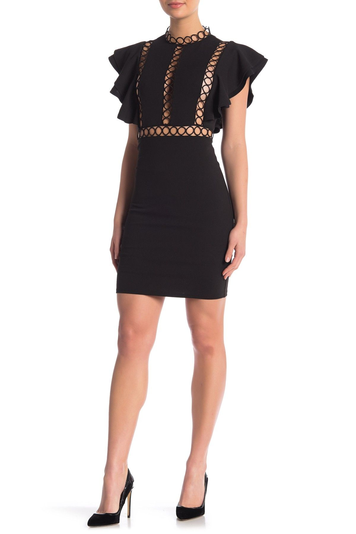d770637d2f Ruffle Cap Sleeve Cutout Dress by Love by Design on  nordstrom rack