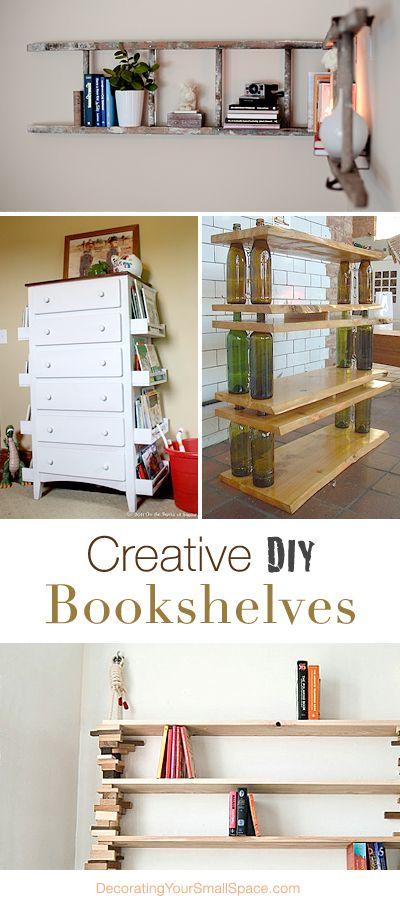 Creative diy bookshelves creative bookshelf ideas and wine for Diy book rack