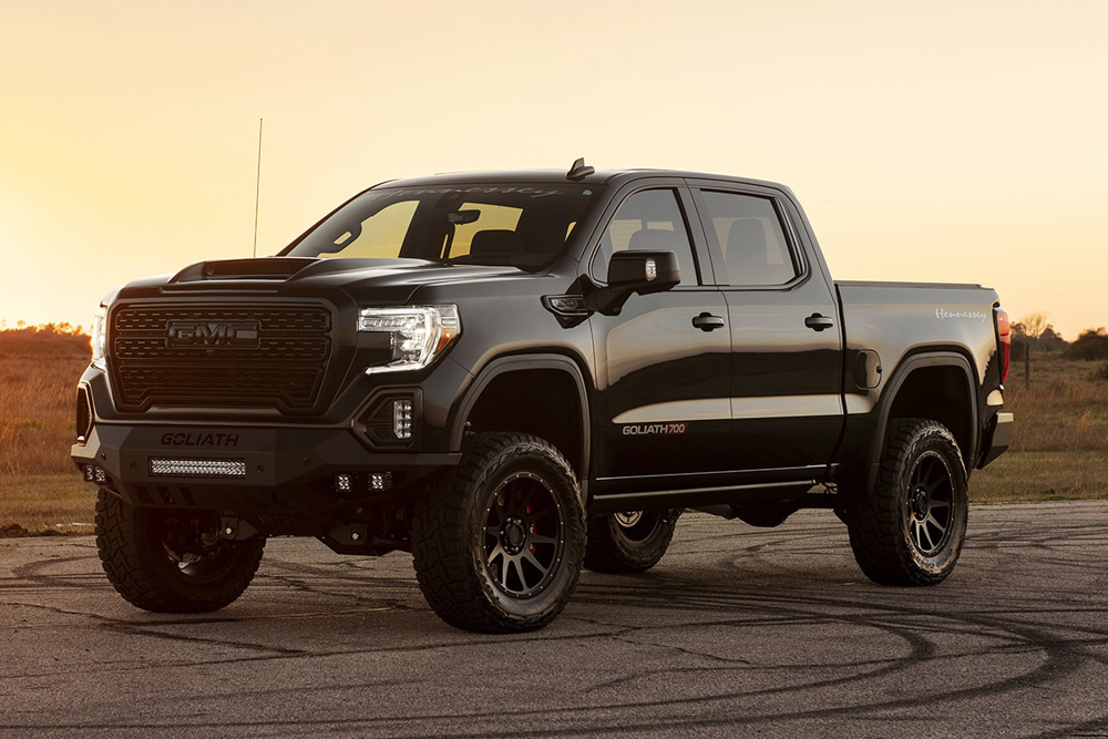 The Blacked Out 2020 Gmc Sierra Goliath Is A Supercharged 700hp