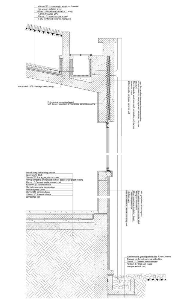 Galeria De 40 Detalles Constructivos De Arquitectura En Hormigon 41 Construction Details Architecture Concrete Wall Section Detail