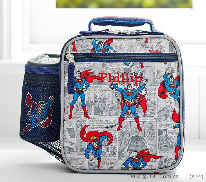 Pottery Barn Kids Superhero Backpack Boys Large Batman Bookbag Lunchbox New