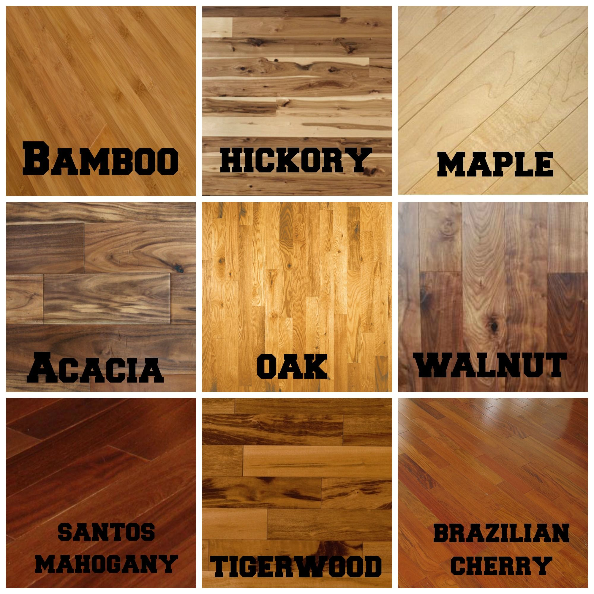Hardwood flooring types wood design inspiration 23818 for Wood flooring choices