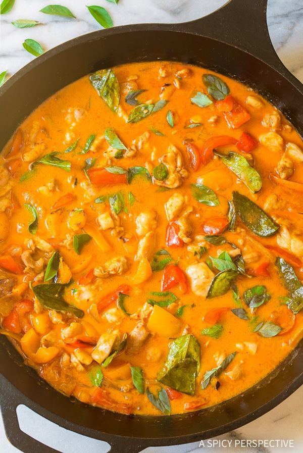 A Spicy Perspective The Best Thai Panang Chicken Curry Video A Spicy Perspective Curry Recipes Panang Curry Recipe Vegetarian Curry Chicken