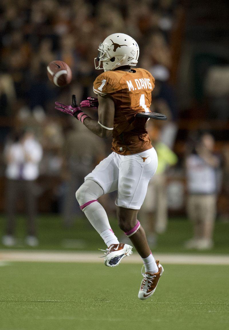 Mike Davis 1 Texas Football Texas Longhorns Football