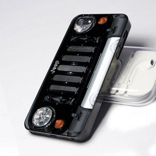 Black Jeep Wrangler Lamp design for iPhone 4 or 4s case