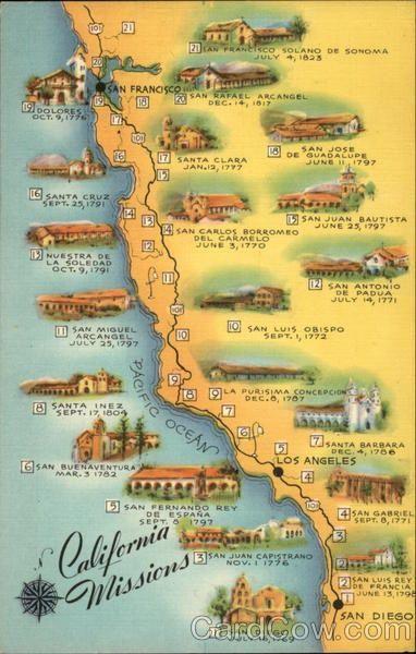 21 California Missions List Google California Missions California Poster California Postcard