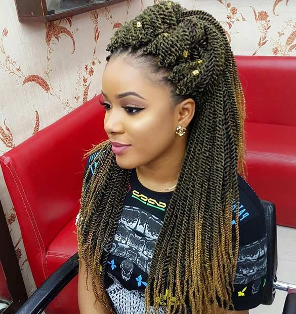 Twist Hairstyle Glamorous 31 Stunning Crochet Twist Hairstyles  Pinterest  Crochet