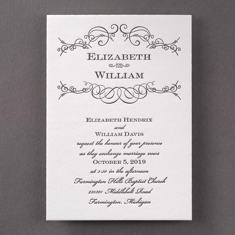 Letterpress Swirls - Invitation > Wedding Invitations   Carlson ...