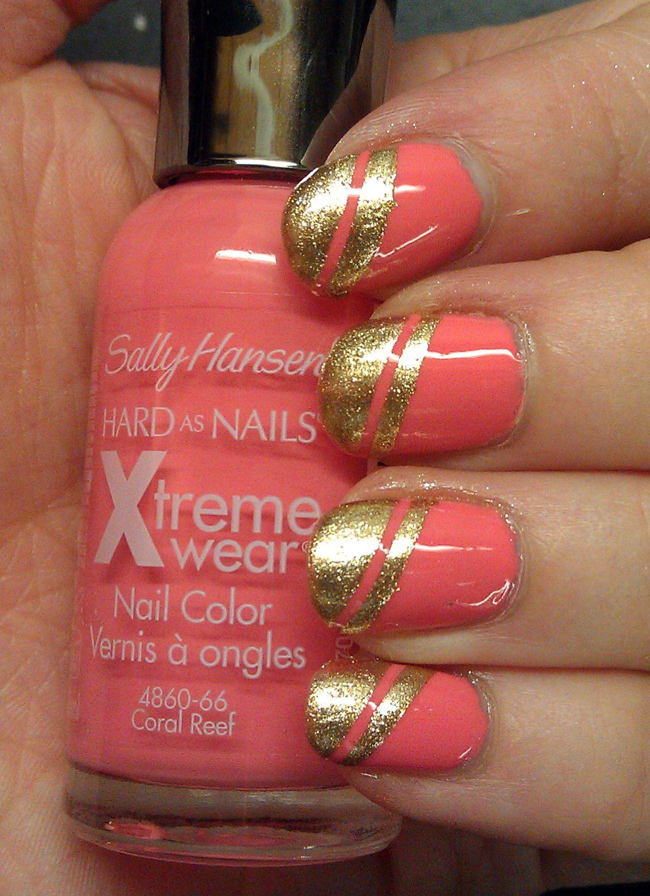 Sally Hansen Coral Reef Sally Hansen Golden I Nails