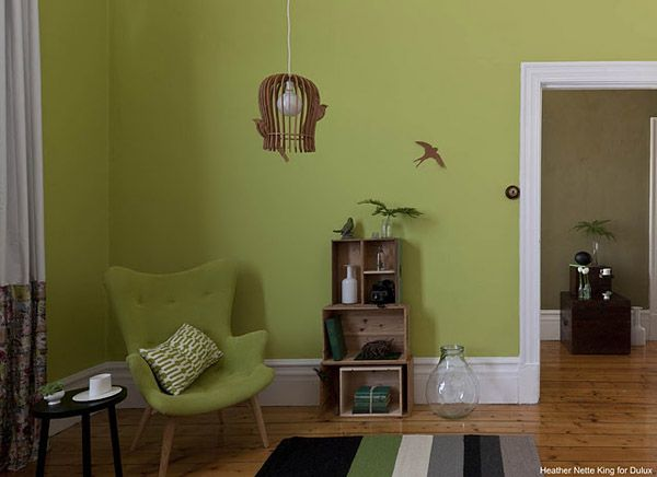 Living Room Green Paint dulux color trends 2012, popular interior paint colors | interiors