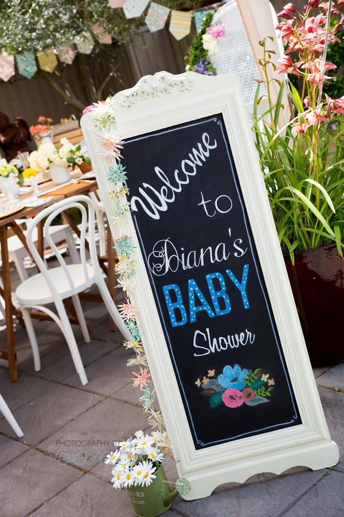 garden party baby shower ideas
