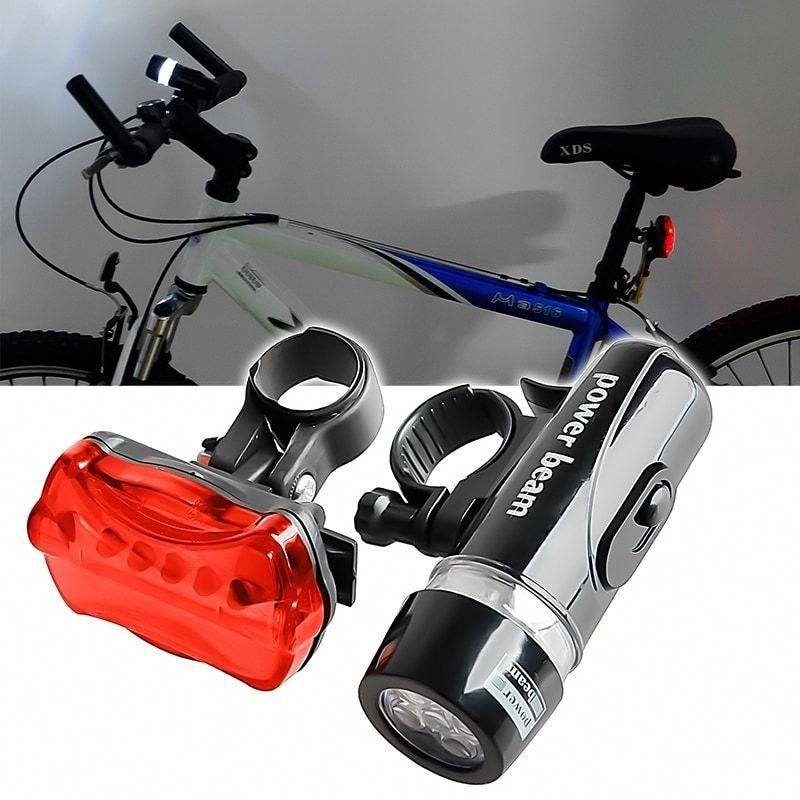 Waterproof LED Mountain Bike Lights 18650 Rechargeable Front Rear Light UK