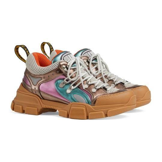 dda196ca8f4 Flashtrek sneaker with removable crystals - Gucci Women s Sneakers  537133DOR608266