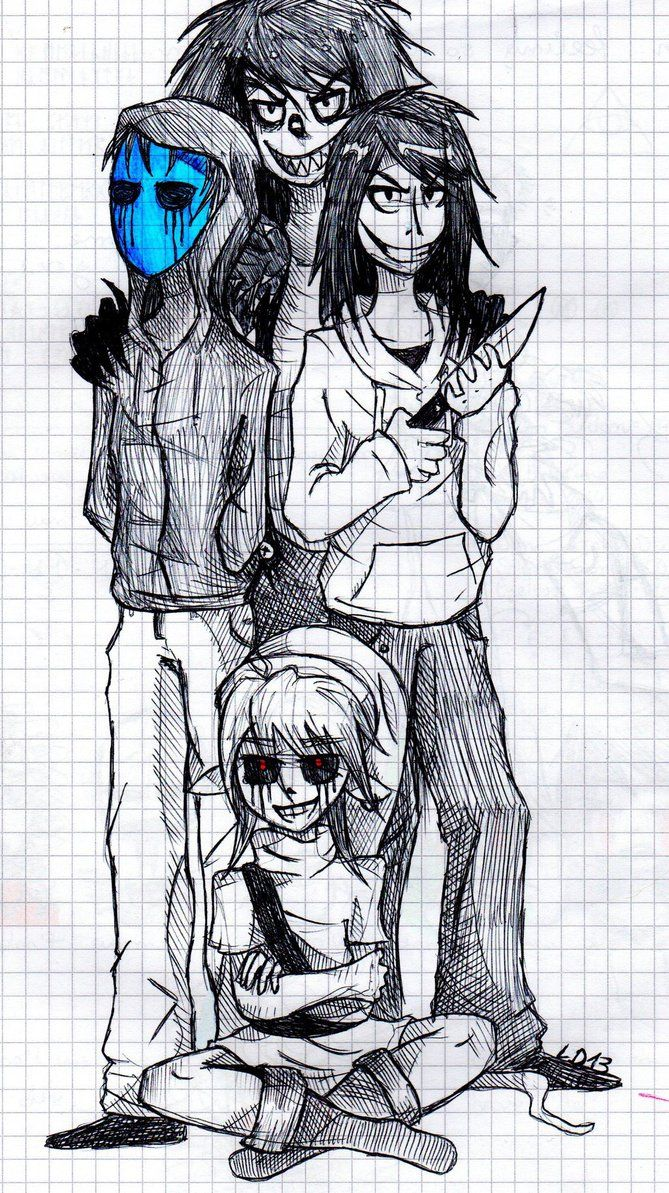 Eyeless Jack Laughing Jeff The Killer And Ben Drowned I Wish That Creepypastas Where Real EVEN MY FRIEND DOES TO Shes Also On Deviantart