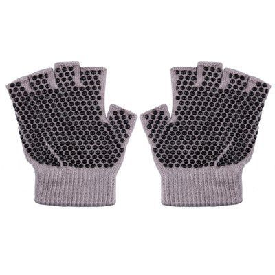 Breathable Sweat-Absorbent Yoga Fingerless Non-slip Exercise Grip Gloves free shipping