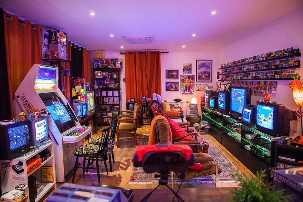 Man Cave Setup Ideas : One of the best looking retro game rooms i have ever seen