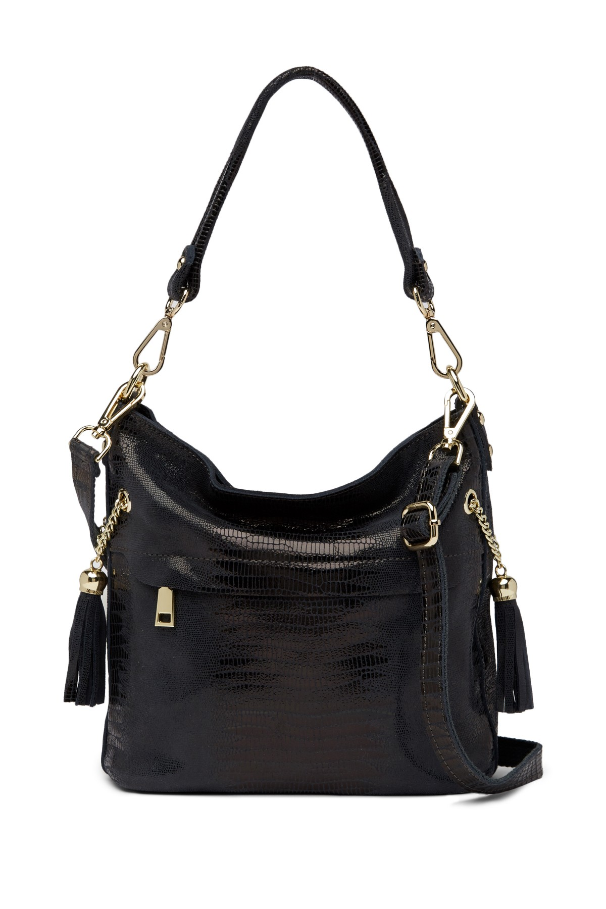 4559085fc5 Tiffany and Fred Lizard Embossed Leather Hobo Bag | Fashion Style ...