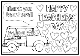Image Result For Colouring Happy Teacher Day Teachers Day Card Happy Teachers Day Card Happy Teachers Day