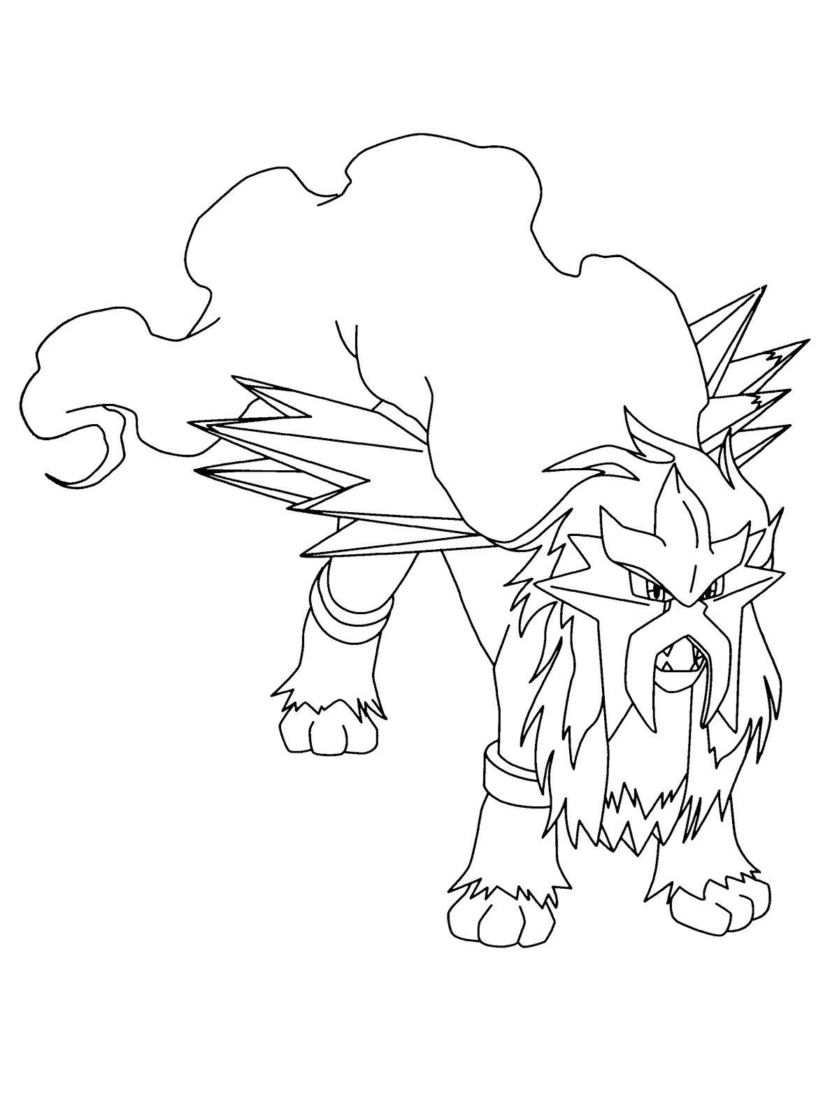 Entei Pokemon Drawing Pokemon Coloring Pages Pokemon Coloring Pokemon Tattoo