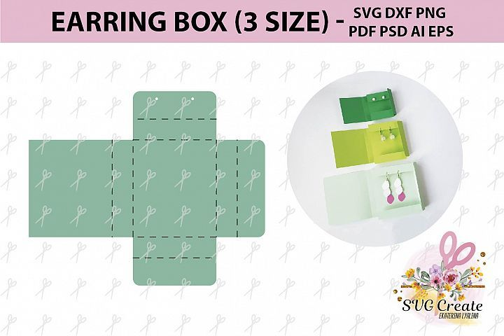 Earring card earring display earring organizer svg box