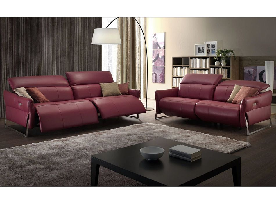 Monaco Recliner Sofa Set By Chateau D Ax Made In Italy Sofa