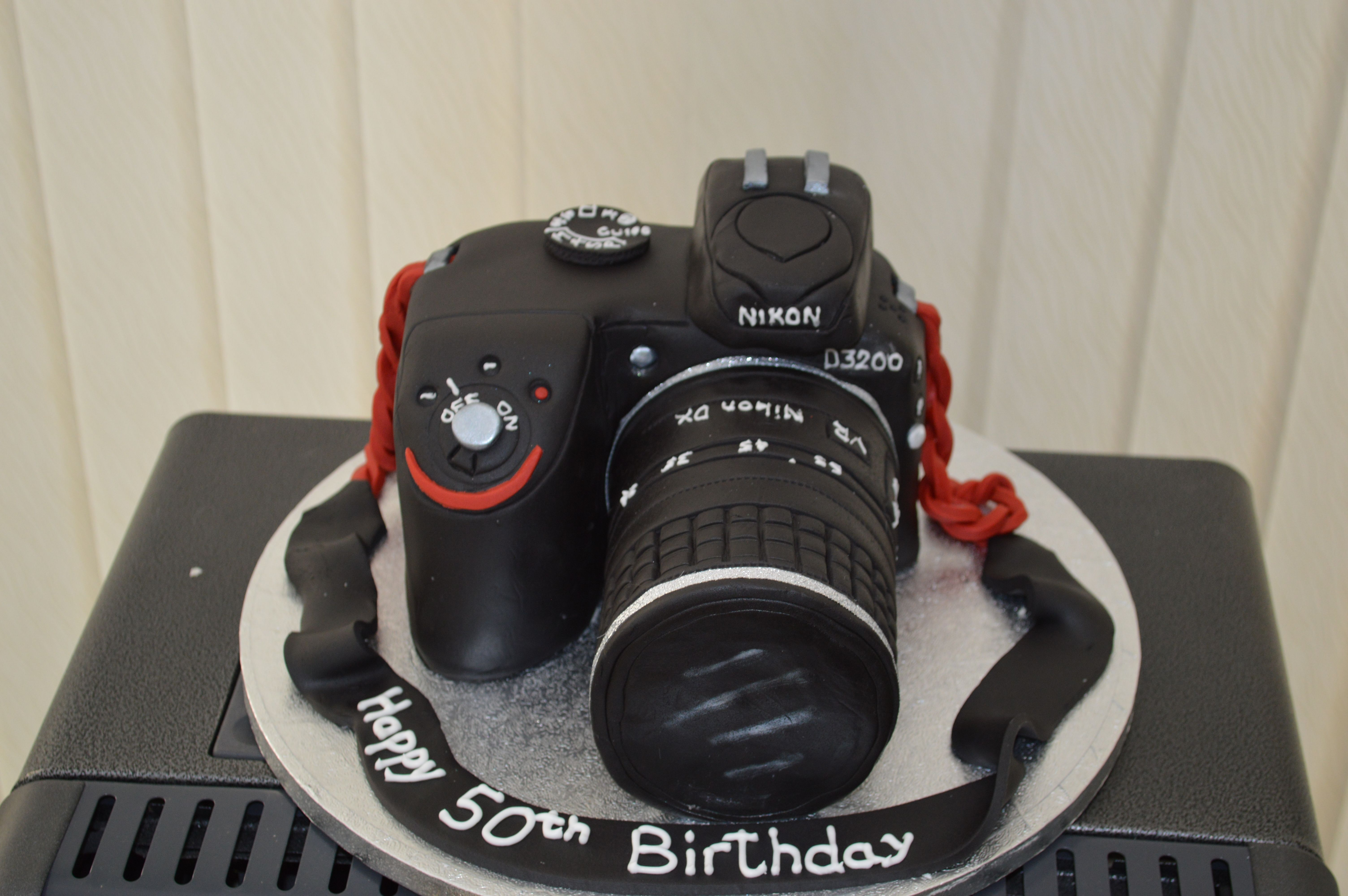 Pleasing Dslr Camera Camera Cakes Dslr Camera 50Th Birthday Personalised Birthday Cards Sponlily Jamesorg