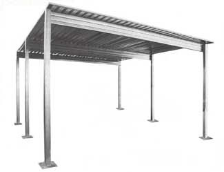 Six Post Carport 3 Jpg 325 249 Steel Carports Diy Carport Metal Carports