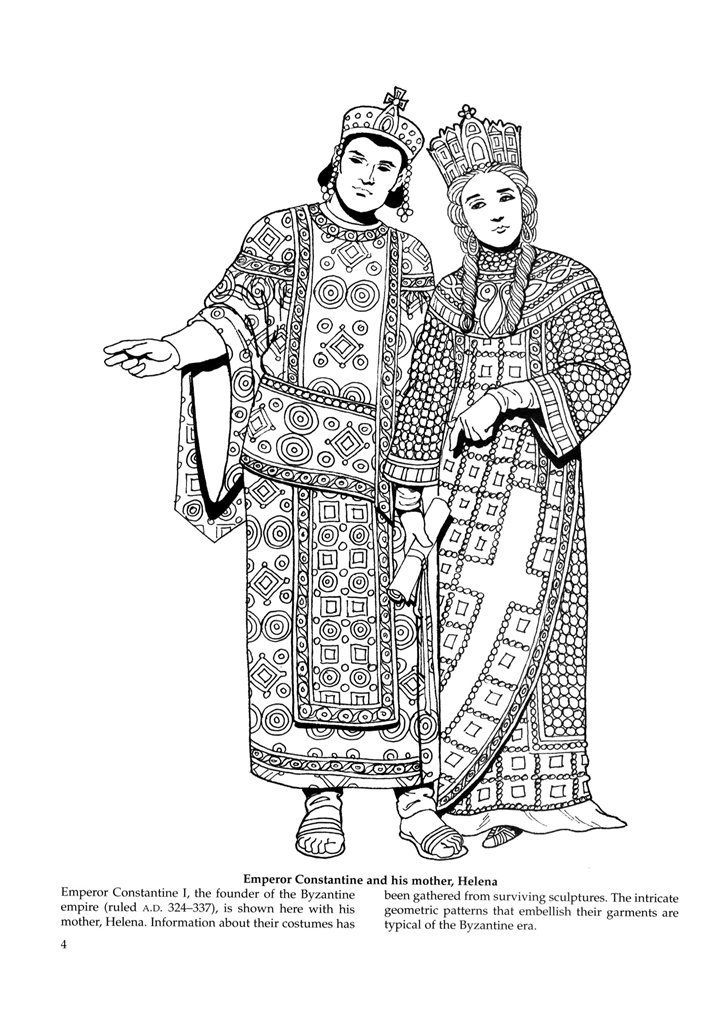 An emperor and an empress in the 4th century. Bocade was
