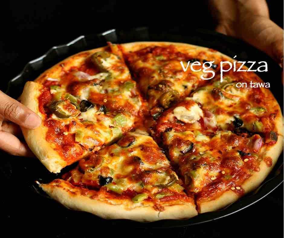 Tawa Pizza Recipe Veg Pizza On Tawa Without Yeast Pizza