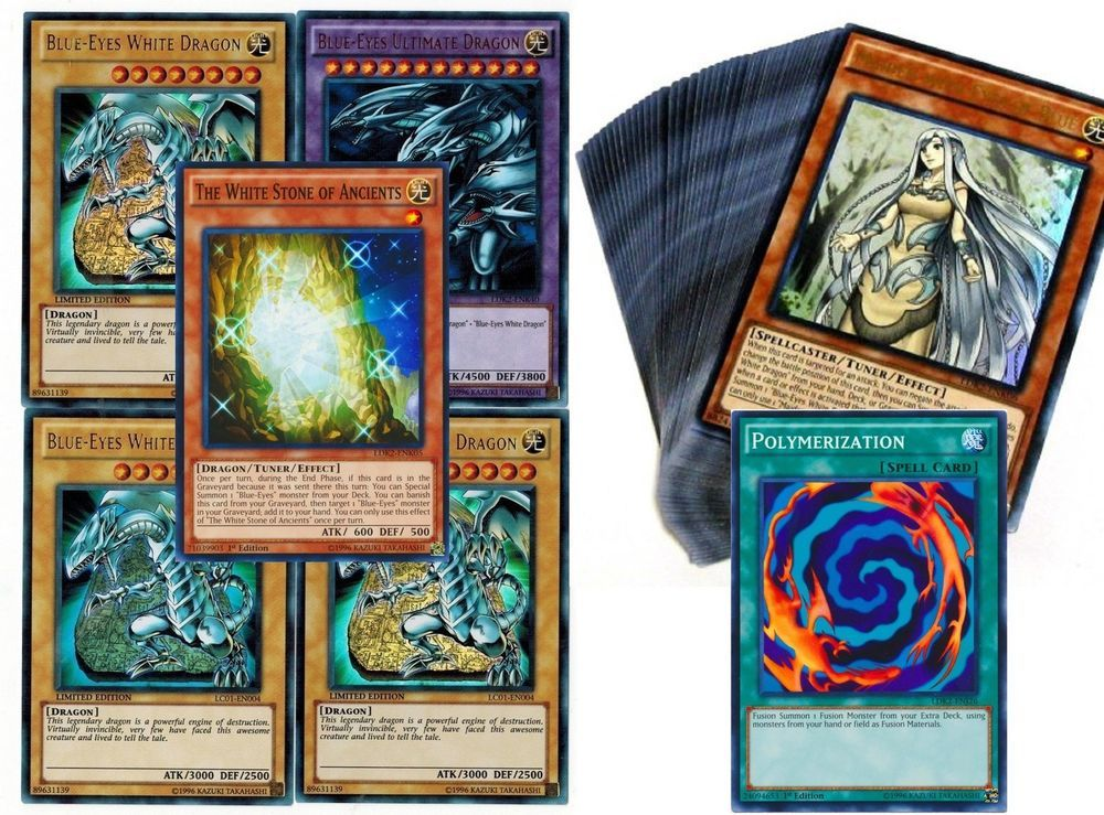 Kaiba 41cards deck ldk2 stone of ancients blueeyes set