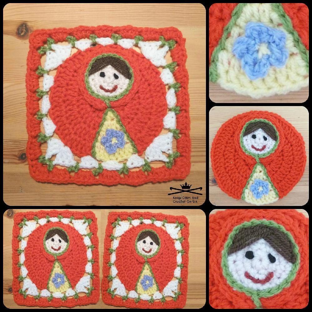 Russian Doll Afghan Square | Afghans, Squares and Square patterns