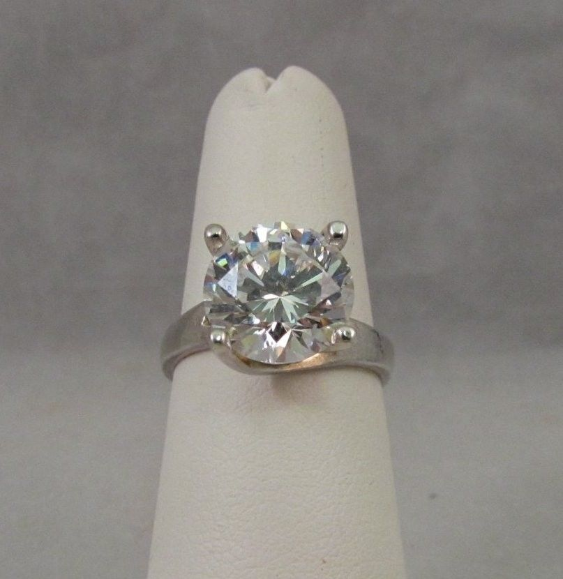 STUNNING 4 carat simulated diamond engagement ring Brilliant Sparkle  #Solitaire