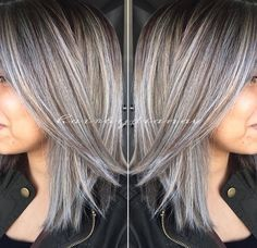 Professional hairstylist education trends grey highlights hair cuts pmusecretfo Choice Image