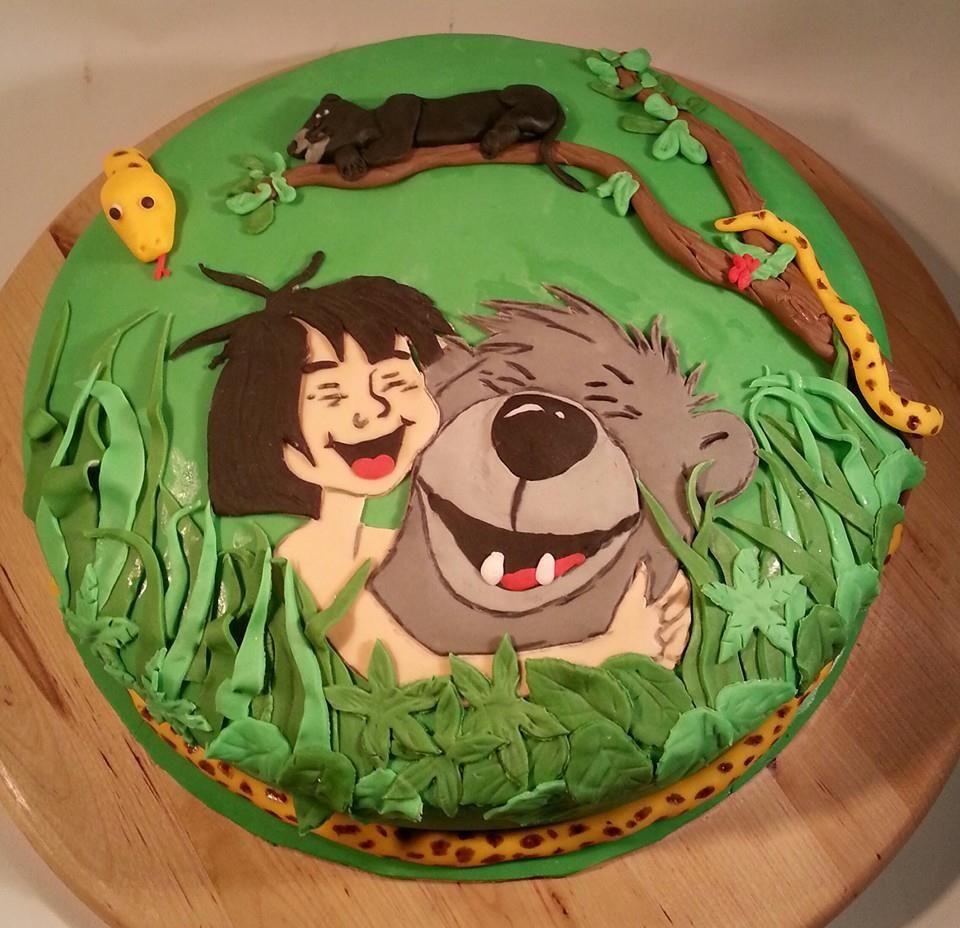 Kindertorte Mit Bildern Dschungelbuchparty Buch Kuchen