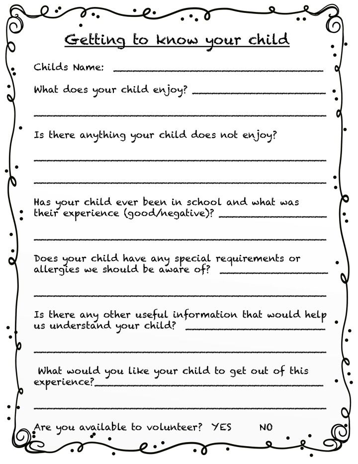Parent Survey Template Student Survey Template Get To Know You