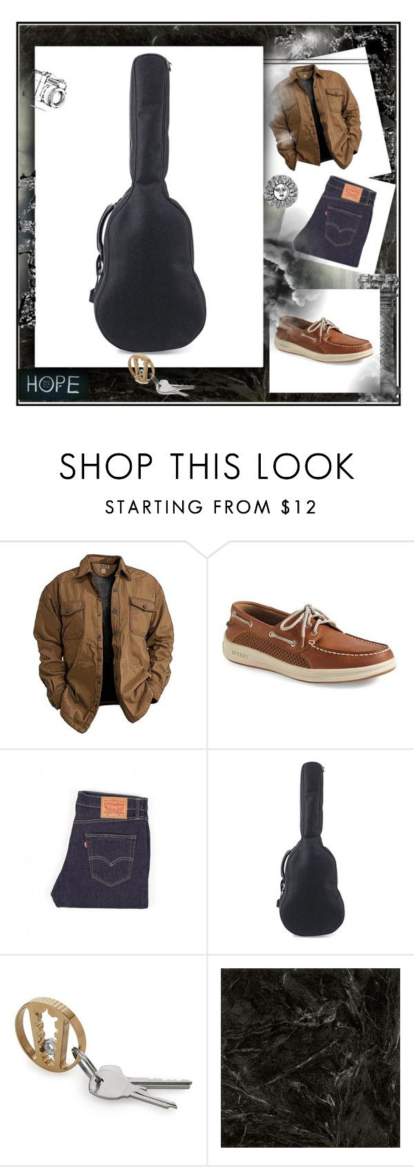 """""""All about passion"""" by marijana-vitas on Polyvore featuring Sperry, Levi's, Yves Saint Laurent, men's fashion and menswear"""