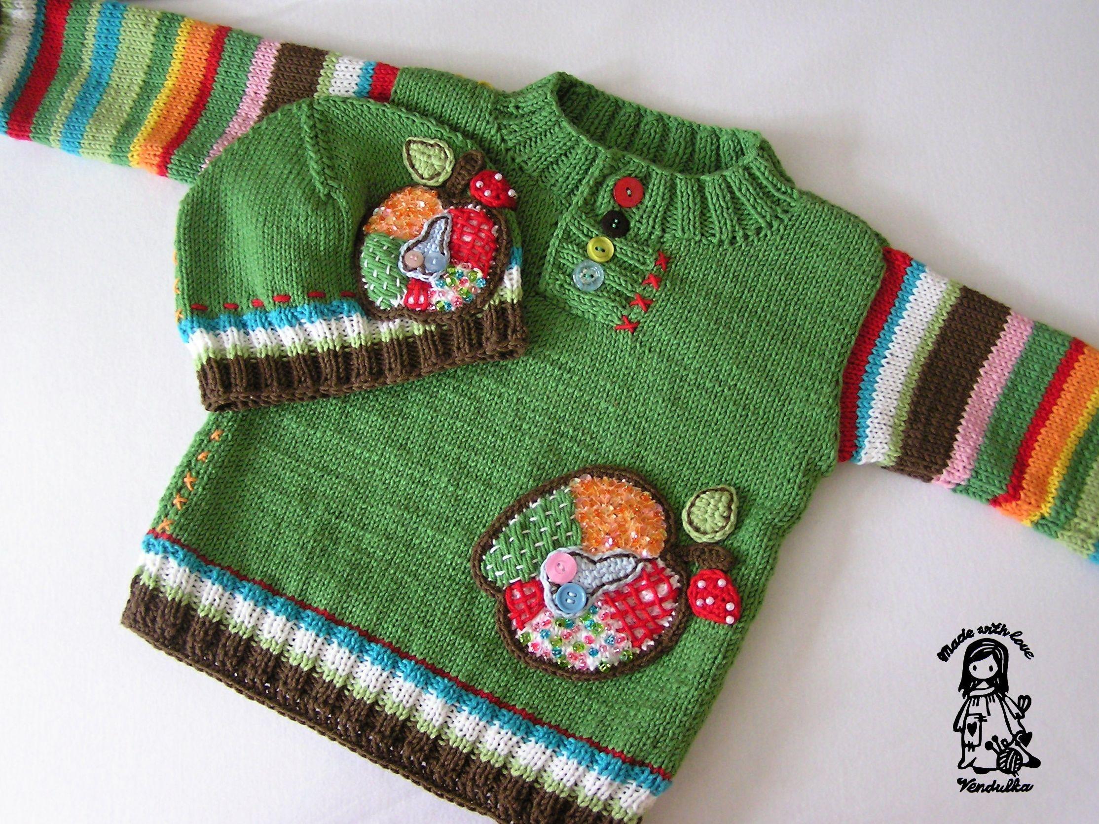 6473c7ef9 Pletený svetr pro děti - návod zdarma | Detičky | Pletené, Svetre a ...