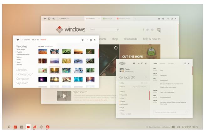 Incredible mockup of Windows desktop gone Metro-like