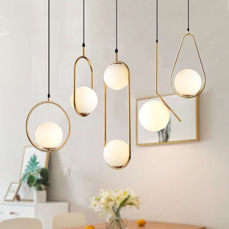 Gold Vintage Hanging Glass Lamps In 2020 Modern Kitchen Pendant