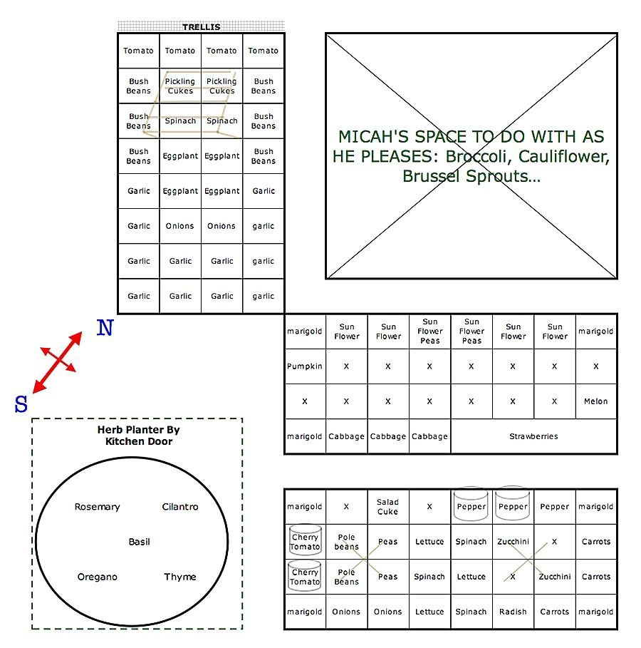 Vegetable Garden Layout Planner Grid Pennsylvania Square Foot – Planning My Garden Layout