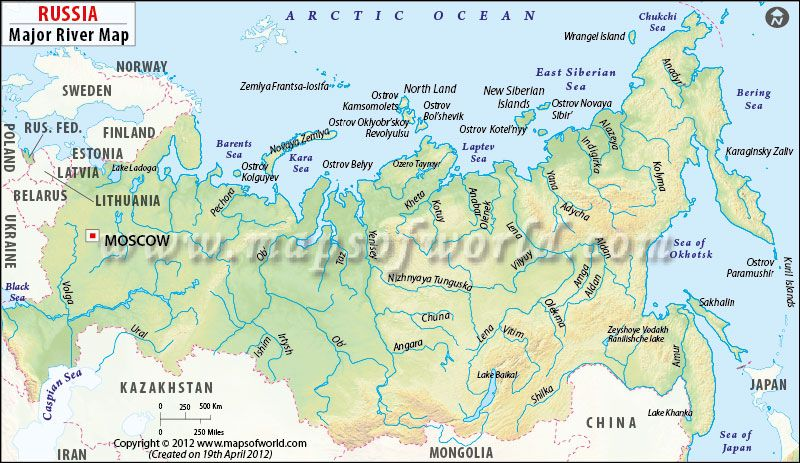 Russia River Map Physical Map Map Russia