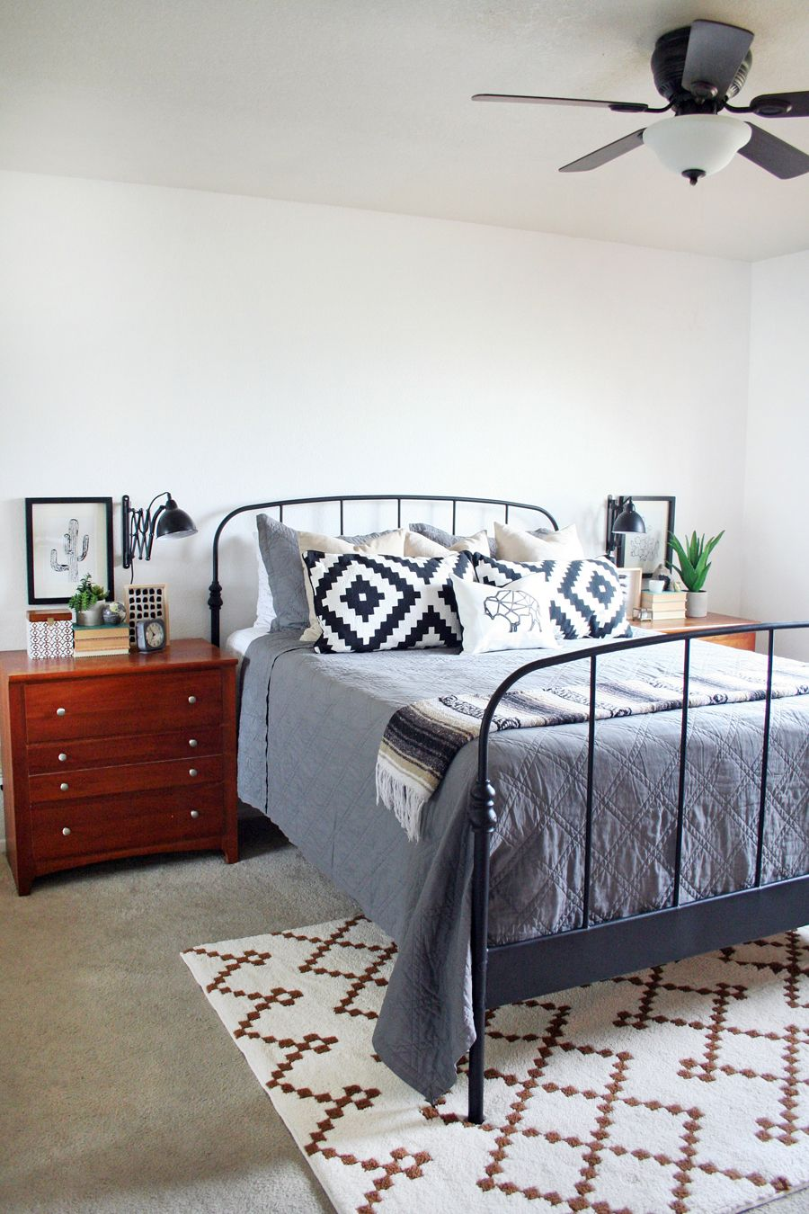 Master Bedroom Makeover #eclectic #aztec #southwest