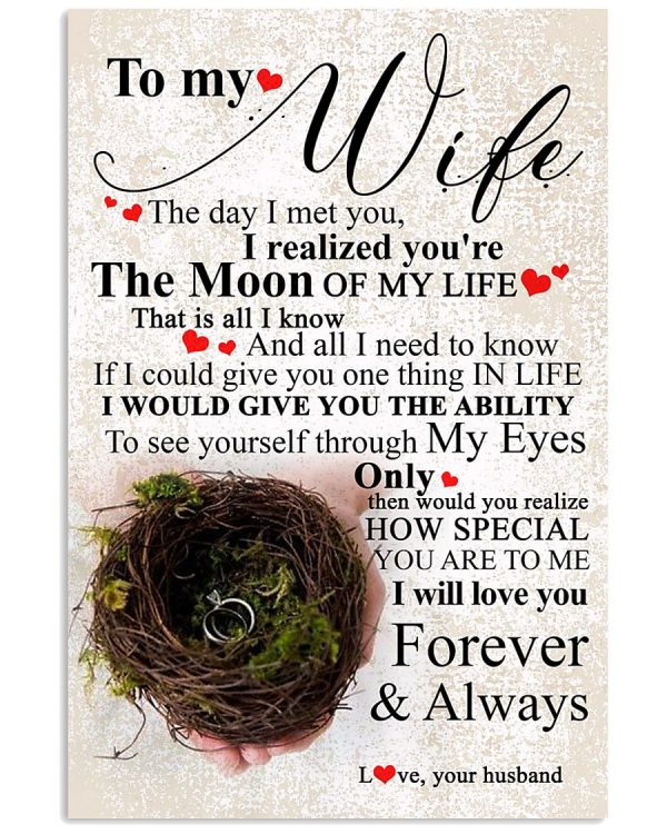 To My Wife Vertical Poster In 2021 Anniversary Quotes For Wife Daughter Love Quotes Love Mom Quotes