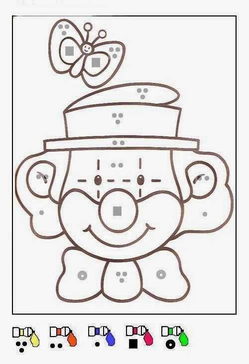 clown coloriages magiques maternelle monkey coloriage magique cp - Coloriages Magiques Maternelle